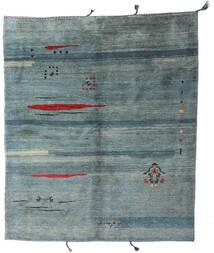 Gabbeh Rustic Tapete 208X243 Moderno Feito A Mão Azul/Cinza Escuro (Lã, Pérsia/Irão)
