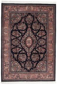 Ghom Indo Matto 250X352 Itämainen Käsinsolmittu Tummanruskea/Musta Isot (Villa, Intia)