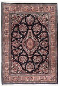 Sarough Indo Tapete 252X357 Oriental Feito A Mão Preto/Castanho Escuro Grande (Lã, Índia)