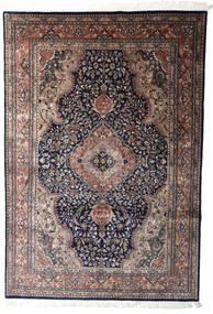 Kashan Indo Tapete 204X295 Oriental Feito A Mão Preto/Vermelho Escuro (Lã, Índia)