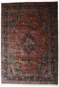 Keshan Indisk Tæppe 250X360 Ægte Orientalsk Håndknyttet Mørkebrun/Mørkerød Stort (Uld, Indien)