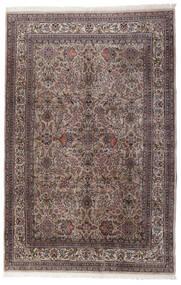Keshan Indo Matto 195X295 Itämainen Käsinsolmittu Tummanruskea/Vaaleanharmaa (Villa, Intia)