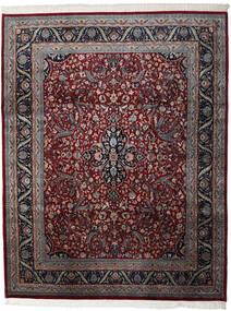 Kashan Indiai Szőnyeg 241X307 Keleti Csomózású Sötétpiros/Barna (Gyapjú, India)