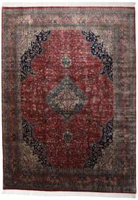 Kashan Indo Tapete 251X346 Oriental Feito A Mão Vermelho Escuro/Preto Grande (Lã, Índia)