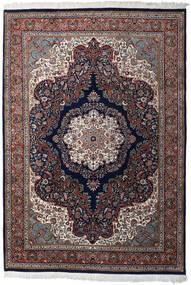Farahan Indisk Tæppe 247X361 Ægte Orientalsk Håndknyttet Mørkelilla/Mørkebrun (Uld, Indien)
