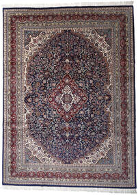 Keshan Indo Matto 252X344 Itämainen Käsinsolmittu Tummanvioletti/Vaaleanharmaa Isot (Villa, Intia)