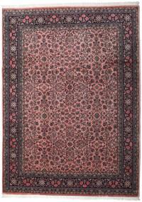 Sarough Indiaas Vloerkleed 246X339 Echt Oosters Handgeknoopt Donkerbruin/Donkerrood (Wol, India)