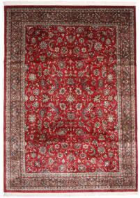 Sarough Indo Tapete 247X348 Oriental Feito A Mão Vermelho Escuro/Castanho Escuro (Lã, Índia)