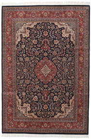 Sarough Indiaas Vloerkleed 249X364 Echt Oosters Handgeknoopt Donkerrood/Donkerbruin (Wol, India)