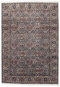 Sarouk Indo Rug 200X283 Authentic  Oriental Handknotted Light Brown/Black (Wool, India)