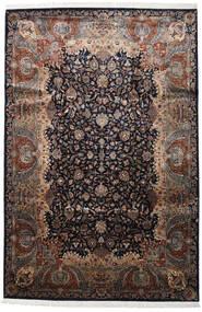 Kashmar Indo Tapete 244X365 Oriental Feito A Mão Castanho Escuro/Vermelho Escuro (Lã, Índia)