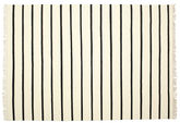 Dhurrie Stripe - White / Black carpet CVD1662