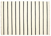 Dhurrie Stripe - White / Black rug CVD1657