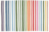 Rainbow Stripe - White tæppe CVD1766