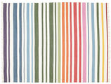 Rainbow Stripe - White carpet CVD1765