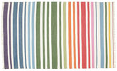 Rainbow Stripe - White tæppe CVD1769