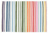 Rainbow Stripe - White tæppe CVD1768