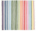 Rainbow Stripe - White tæppe CVD1763