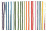 Rainbow Stripe - White tæppe CVD1771