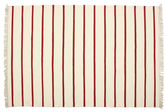 Dhurrie Stripe - White / Red