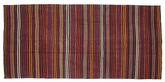 Kilim semi antique Turkish carpet XCGH1378