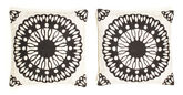 Pillowcase - Black package of 2  51x51