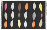 Leaves - Black rug CVD8219