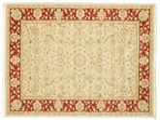 Farahan Ziegler - Beige / Rood tapijt RVD9659