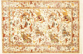 Qum silk pictorial signed: Qum Sharifi carpet VEXX9