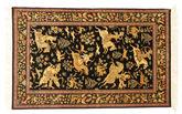 Qum silk pictorial signed: Qum Motevasel carpet VEXX24