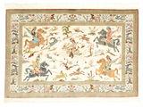 Qum silk pictorial signed: Qum Sharifi carpet VEXX81