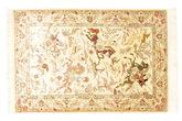 Qum silk pictorial signed: Qum Sharifi carpet VEXY8