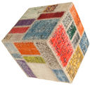 Tappeto Patchwork stool ottoman BHKW138