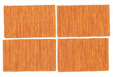Kilim loom - Rust / Orange package of 4  40x60