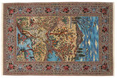 Isfahan silk warp pictorial carpet TBH62
