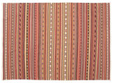 Kilim Dhurrie Varanasi with fringes carpet CVD13819
