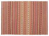 Kilim Dhurrie Varanasi with fringes carpet CVD13819
