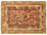 Kilim Afghan Old style carpet NAU967