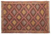 Kilim semi antique Turkish carpet XCGZF909