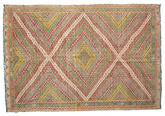 Kilim semi antique Turkish carpet XCGZF908