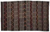 Kilim semi antique Turkish carpet XCGZF1351