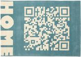 QRCode_Home Handtufted - Blå tæppe CVD13706