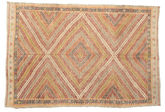 Kilim semi antique Turkish carpet XCGZF978