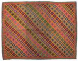 Kilim semi antique Turkish carpet XCGZF925