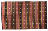 Kilim semi antique Turkish carpet XCGZF922