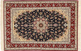Isfahan zijden pool tapijt TTF3