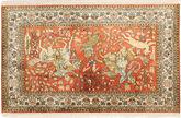 Tapis Cachemire pure soie figural / pictural MSA417