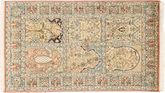 Kashmir pure silk carpet MSA424