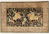Tapis Cachemire pure soie figural / pictural MSA425