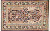 Kashmir pure silk carpet MSA443